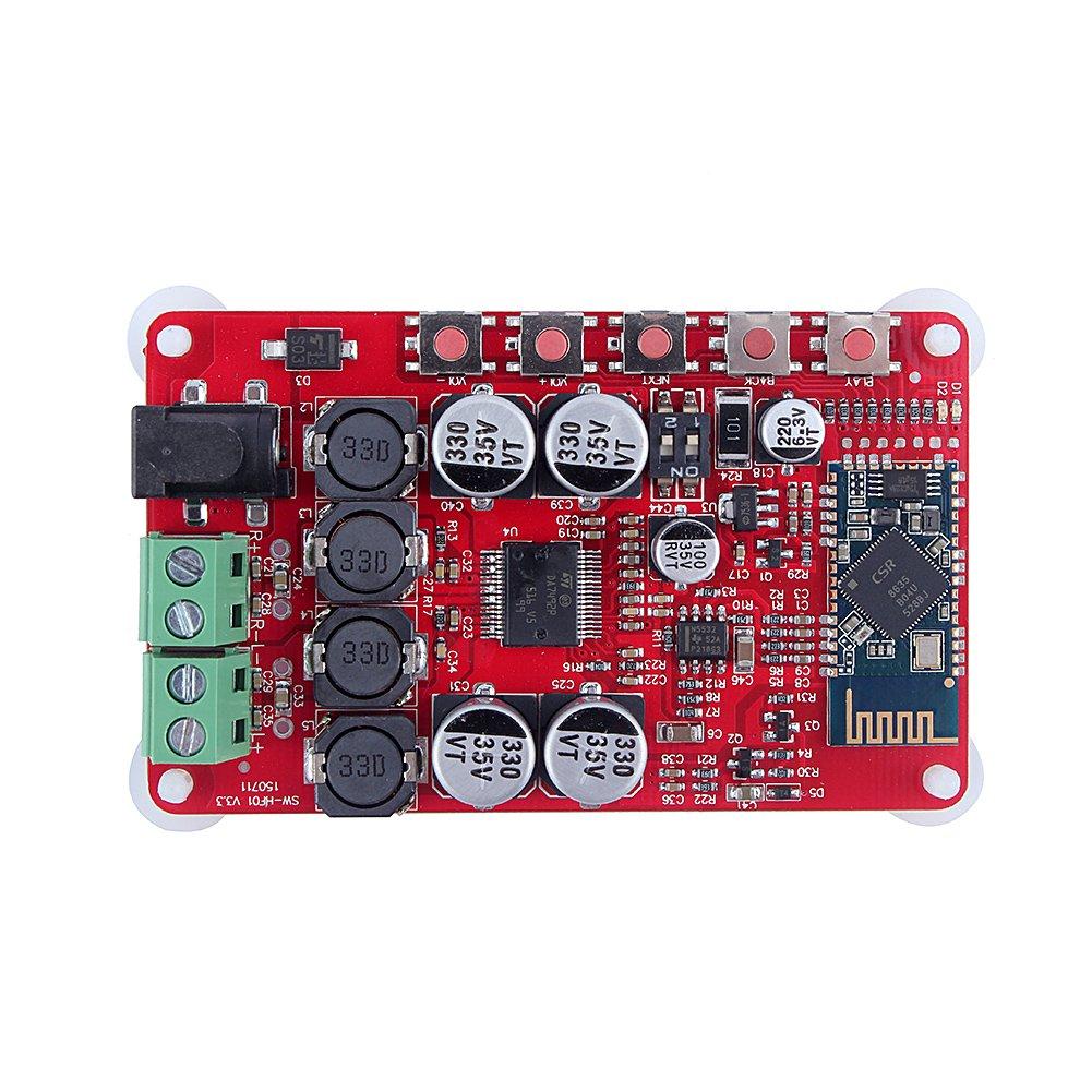 Bluetooth Amplifier Board Yosoo Wireless Digital Bluetooth 4.0 Audio Receiver Amplifier Board TDA7492P 25W+25W by Yosoo