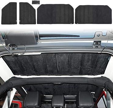 JeCar Hardtop Headliner Roof Insulation Kit Interior Accessories for 2007-2010 Jeep Wrangler JK Unlimited Sport Sahara Rubicon X 4 Door
