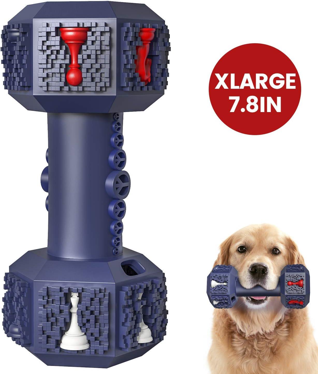IOKHEIRA Juguete para masticar para perros agresivos, indestructibles, juguetes para perros, no tóxicos, resistentes, de goma natural, para perros medianos y grandes