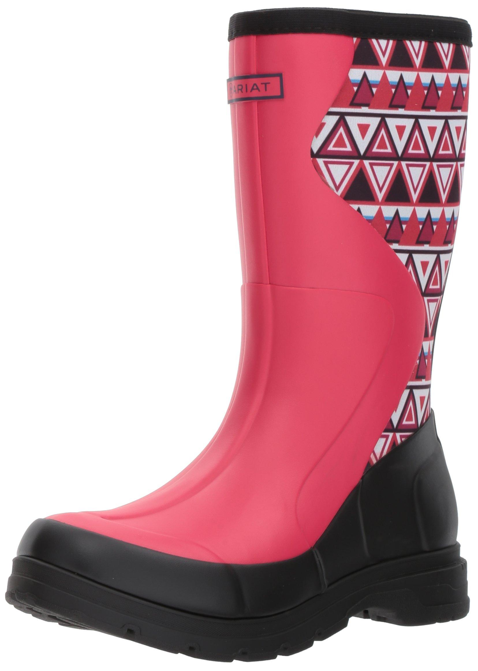 Ariat Women's Springfield Rubber Work Boot, Hot Pink, 9 B US