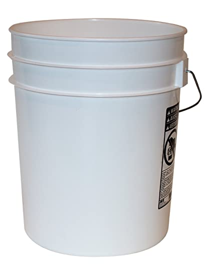 Amazoncom 5 Gallon Heavy Duty White Plastic Bucket 10 Pack