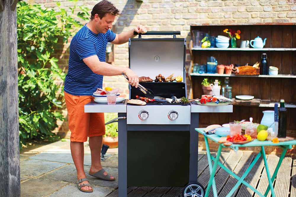 Jamie Oliver Gasgrill Home Test : Jamie oliver gasgrill home zweiflammiger premium bbq