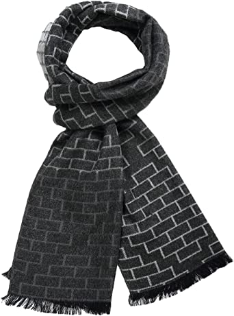 Scarf Luxurious Cashmere Feel Winter Scarf Large Selection Unique Designs for Men Neckerchief Color : Black, Size : OneSize