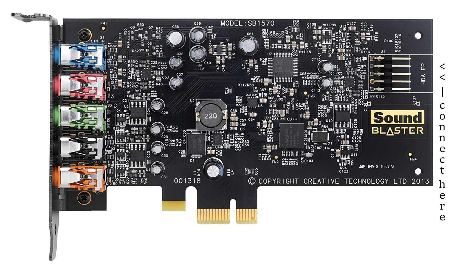 Creative Sound Blaster Audigy FX PCIe 5 1 Sound Card with High