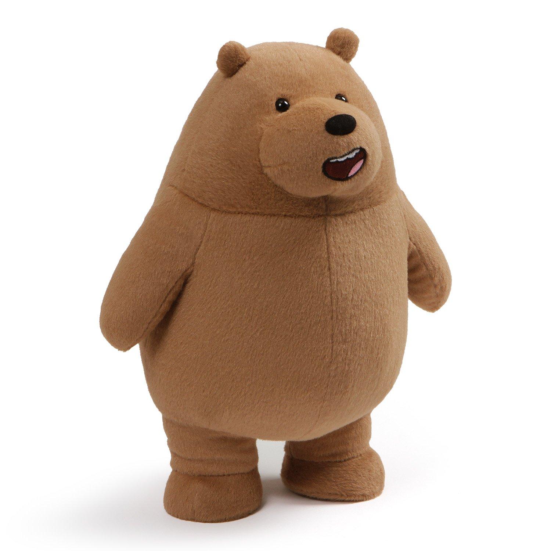 GUND Cartoon Network We Bare Bears Standing Grizz Plush, 11'', Brown