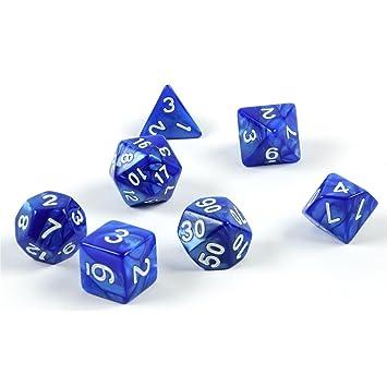 transparent-hellblau mit Beutel Polyedrische Würfel Rollen-/Tabletopspiele