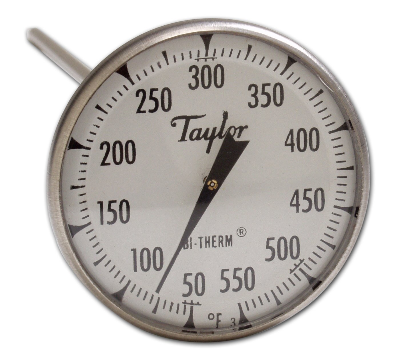 8-Inch Stem, 2-Inch Dial, 25- to 125-Degrees Fahrenheit Taylor Precision Products Bi-Therm Superior Grade Bi-Metal Thermometer