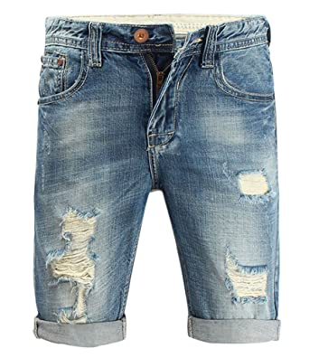 70213d52f78 Myncoo Liangpin Men s Ripped Denim Shorts Distressed Jeans Light Washed 28
