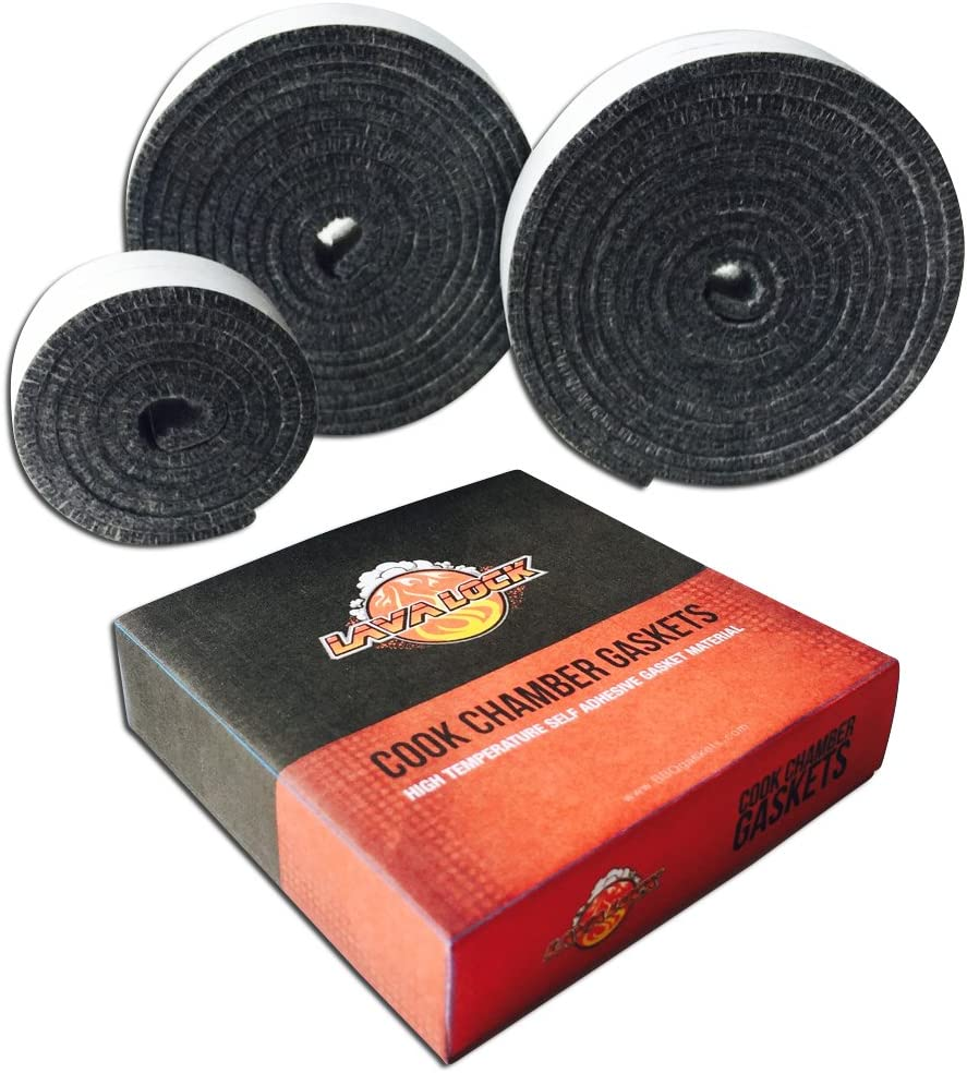Nomex High Temp Replacement BBQ Gasket for All Kamado Smokers Joe, Primo, Grill Dome, King, Komodo, saffire etc