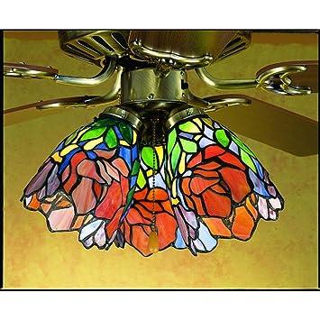 Meyda tiffany 27482 5 inch w iris fan light shade