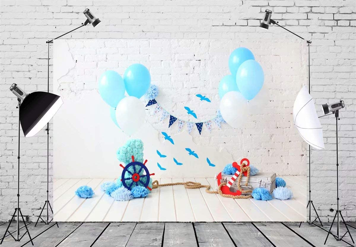 8x10ft Kids Children Photography Backdrop Bunting Decorations Wood Grainy Baby Newborn Brick Wall Portrait Cake Smash Photo Booth backdrops Photo Studio photoshooting Easter Spring Background Vinyl