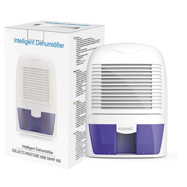 KAIKING Mini Dehumidifier, Auto Shut Off Portable Electric Dehumidifiers for Damp Air Mold Moisture in Small Closet Wardrobe Kitchen (Safe Compact Thermo-electric)