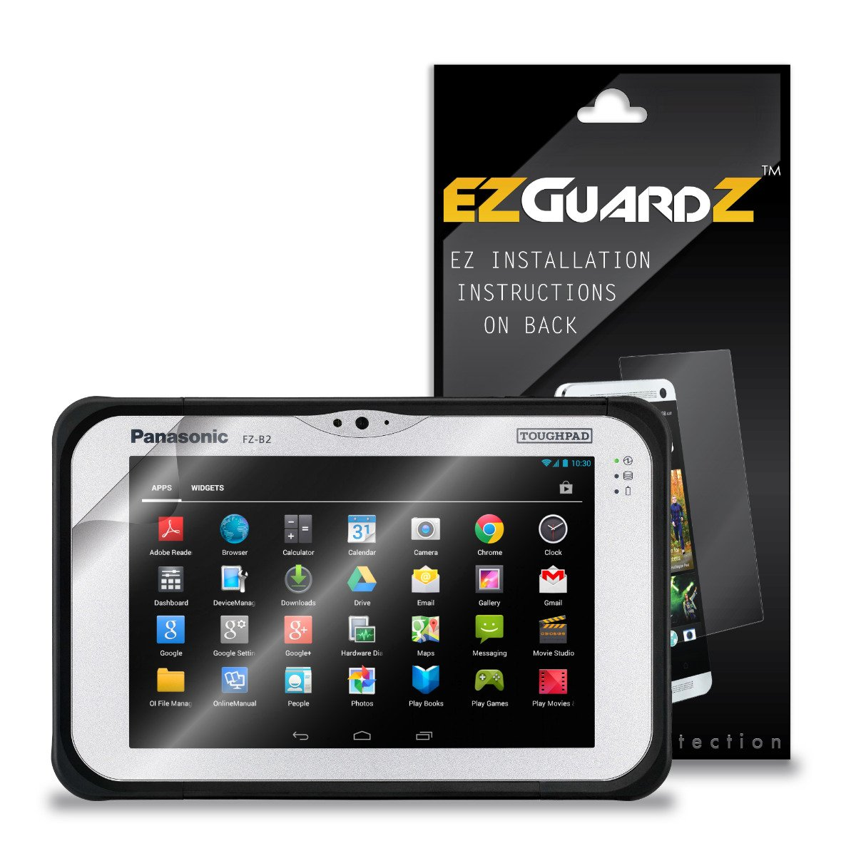 (3-Pack) EZGuardZ Screen Protector for Panasonic Toughpad FZ-B2 Tablet (Ultra Clear)