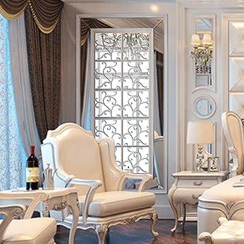 Sunnymi 16pcs 3D Acryl Spiegel Blumen Aufkleber DIY Mit Modern Elegant Edel  Für Sofa Stellwand Esszimmer