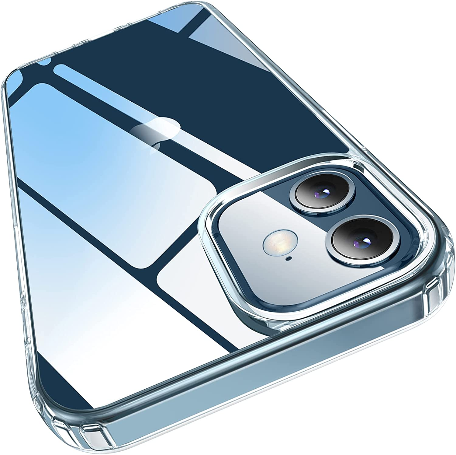 Elando Compatible with iPhone 12/12 ProCrystal Clear Case$10 Coupon