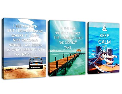 Amazoncom Canvas Wall Art Motivational Quotes Canvas Artwork
