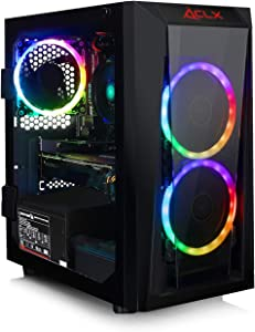 CLX Set Gaming Desktop E-Sports AMD Ryzen 3 3200G 3.6GHz 4-Core, GeForce GTX 1650 4GB, 8GB DDR4, 480GB SSD, WiFi, Black Mini-Tower RGB Fans, Windows 10 Home