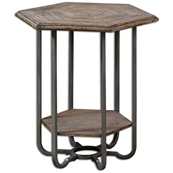 uttermost 24378 mayson wooden accent table amazon    uttermost 24378 mayson wooden accent table  kitchen      rh   amazon