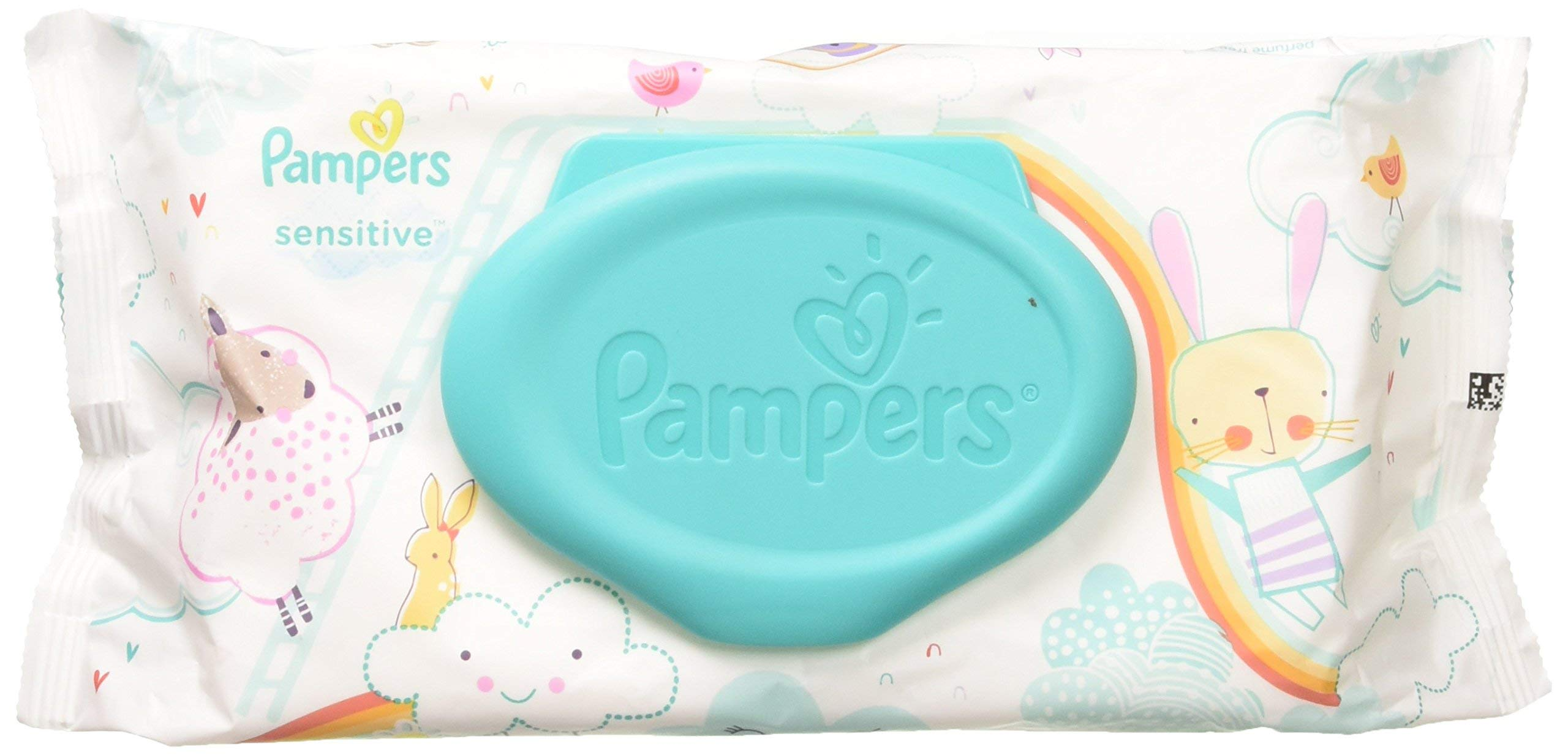 Pampers Sensitive Wipes Travel Pack 56 Count (Pack of 6)