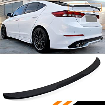 Cuztom Tuning Fits For 2017 2019 Hyundai Elantra Sedan Kdm Matt Black H Style Trunk Lid Spoiler Wing