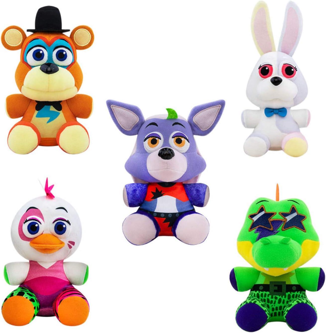 Koala Stuffed Animals Mini, Amazon Com Funko Plush Five Nights At Freddy S Security Breach Set Of 5 Vannie Glamrock Freddy Glamrock Chica Montgomery Gator Roxanne Wolf Fnaf 6 Plush Bundle Toys Games