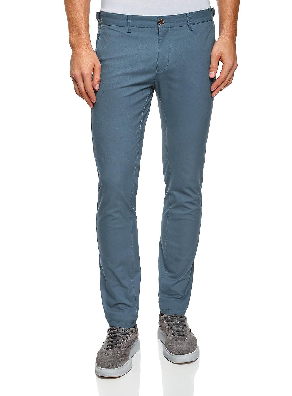 oodji Ultra Hombre Pantalones Chinos de Algodón con Anchura Regulable de la Cintura RIFICZECH s.r.o. 2L150097M