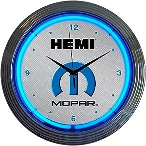Neonetics Mopar Hemi Neon Wall Clock, 15-Inch