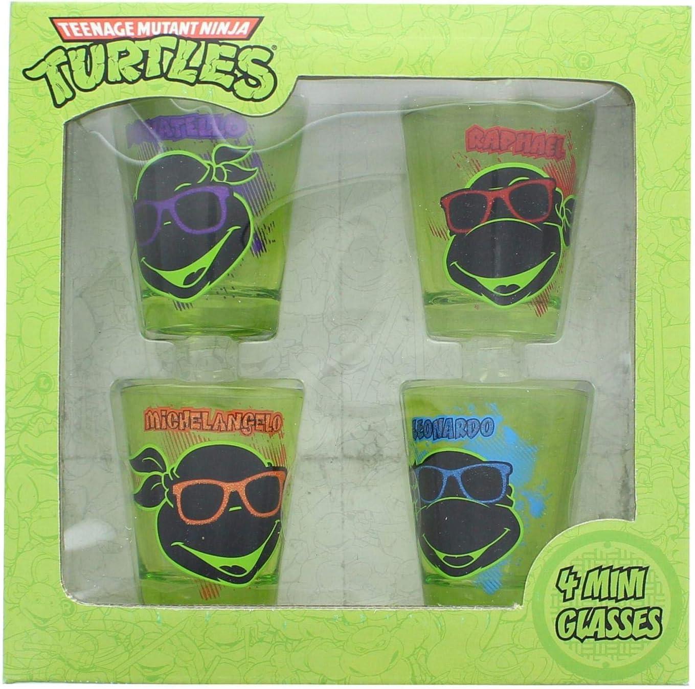 JUST FUNKY TMNT-SG4-4626-JFC-01 Teenage Mutant Ninja Turtles Face Shot Set