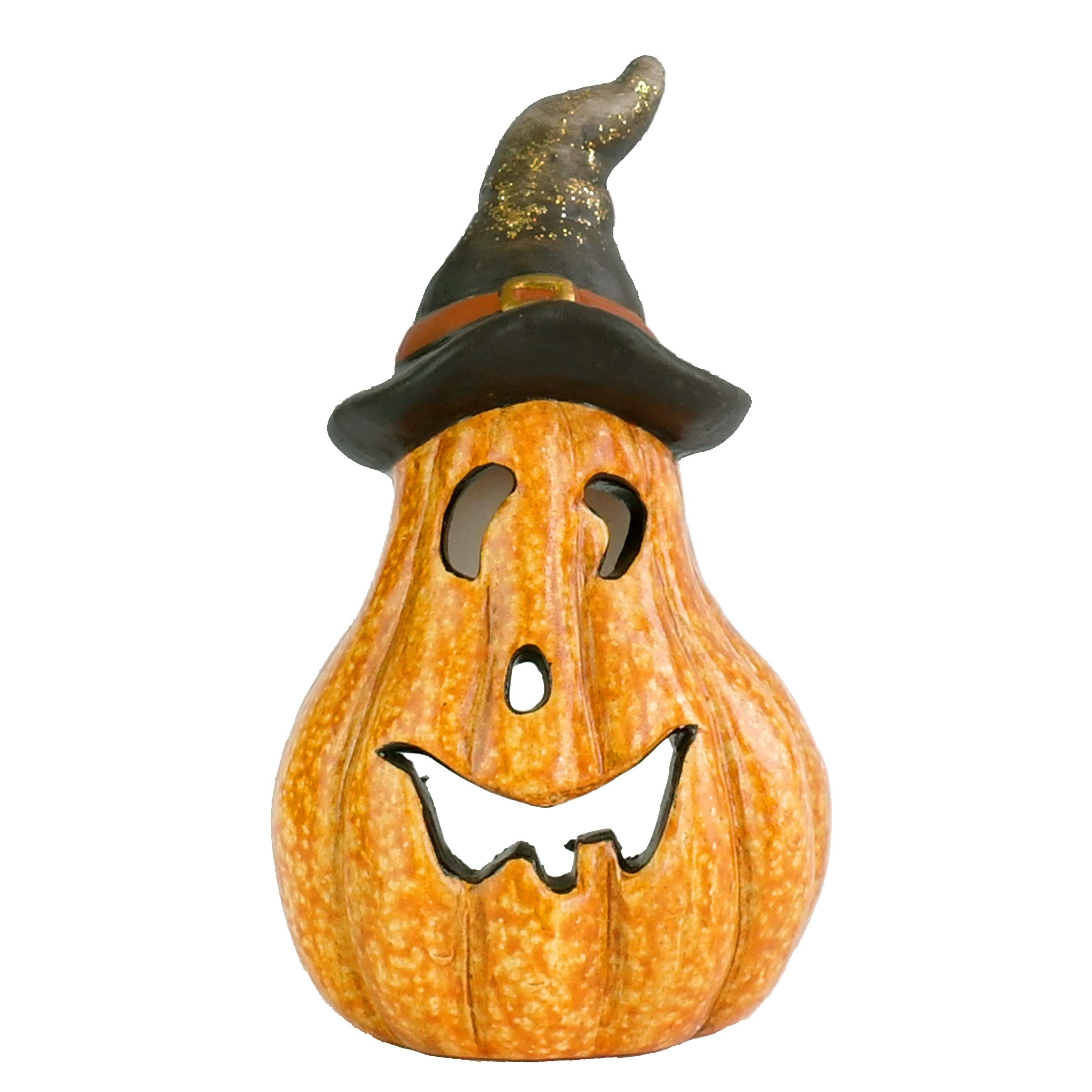 National Tree Jack-O-Lantern Décor, 8 Inch, Orange