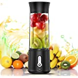 chalvh Portable Blender, 16.9 Oz Personal Blender for Shakes and Smoothies, Fruit Juice Mixer Rechargeable with USB C, Six 3D