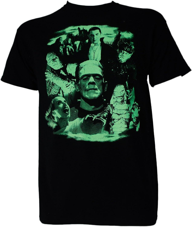 Universal Monsters Collage Dracula Frankenstein - Camiseta para hombre - Negro - Small: Amazon.es: Ropa y accesorios