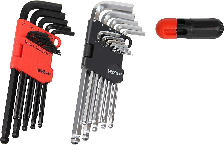 Industrial-grade Allen Wrench Chrome Vanadium Steel Ball Head Allen Key Set