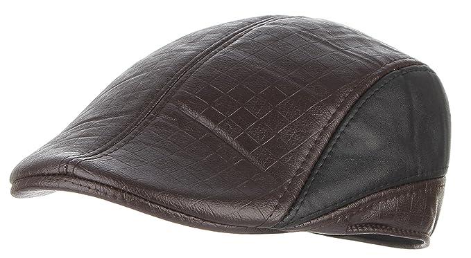 La Vogue-Retro Cappello in PU Uomo Newsboy Paraorecchie Baschi Uomini  Berretto Invernale Marrone 58cm  Amazon.it  Abbigliamento 8403fea921e9
