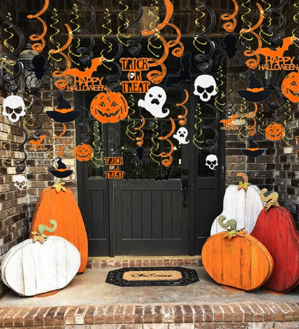 LaVenty Trick Or Treat Banner Halloween Home Decor Haunted House Decorations Fall Halloween Party Bunting Rustic Halloween Banner Halloween Decor Halloween Party Sign Halloween Witch Decorations