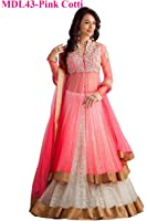 Aarvicouture lehenga choli for women (Lehenga_Free_Size _Pink_Colour)