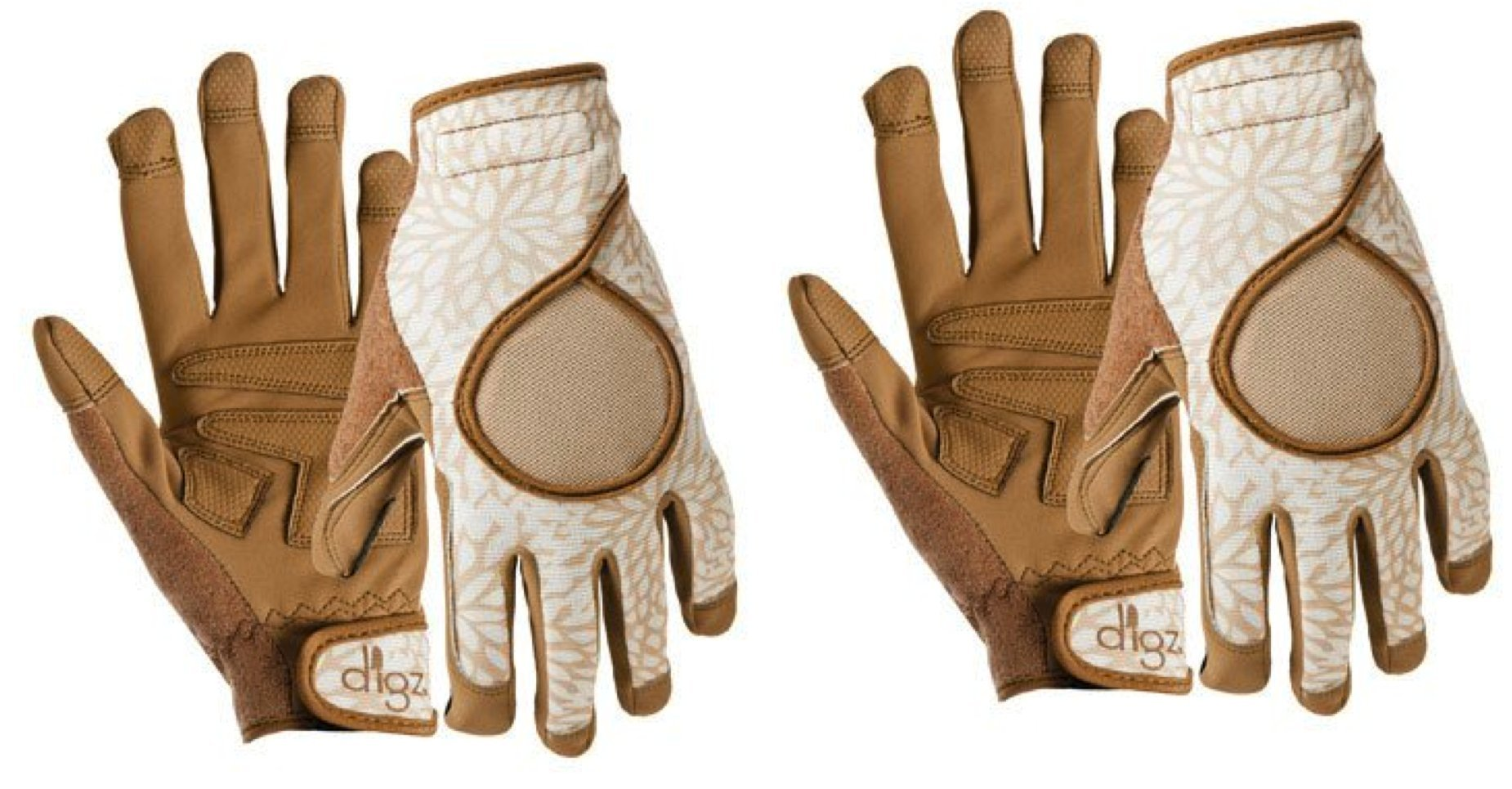 Gardening Gloves for Women, High Performance Signature Brown, 2 Pack Size Medium