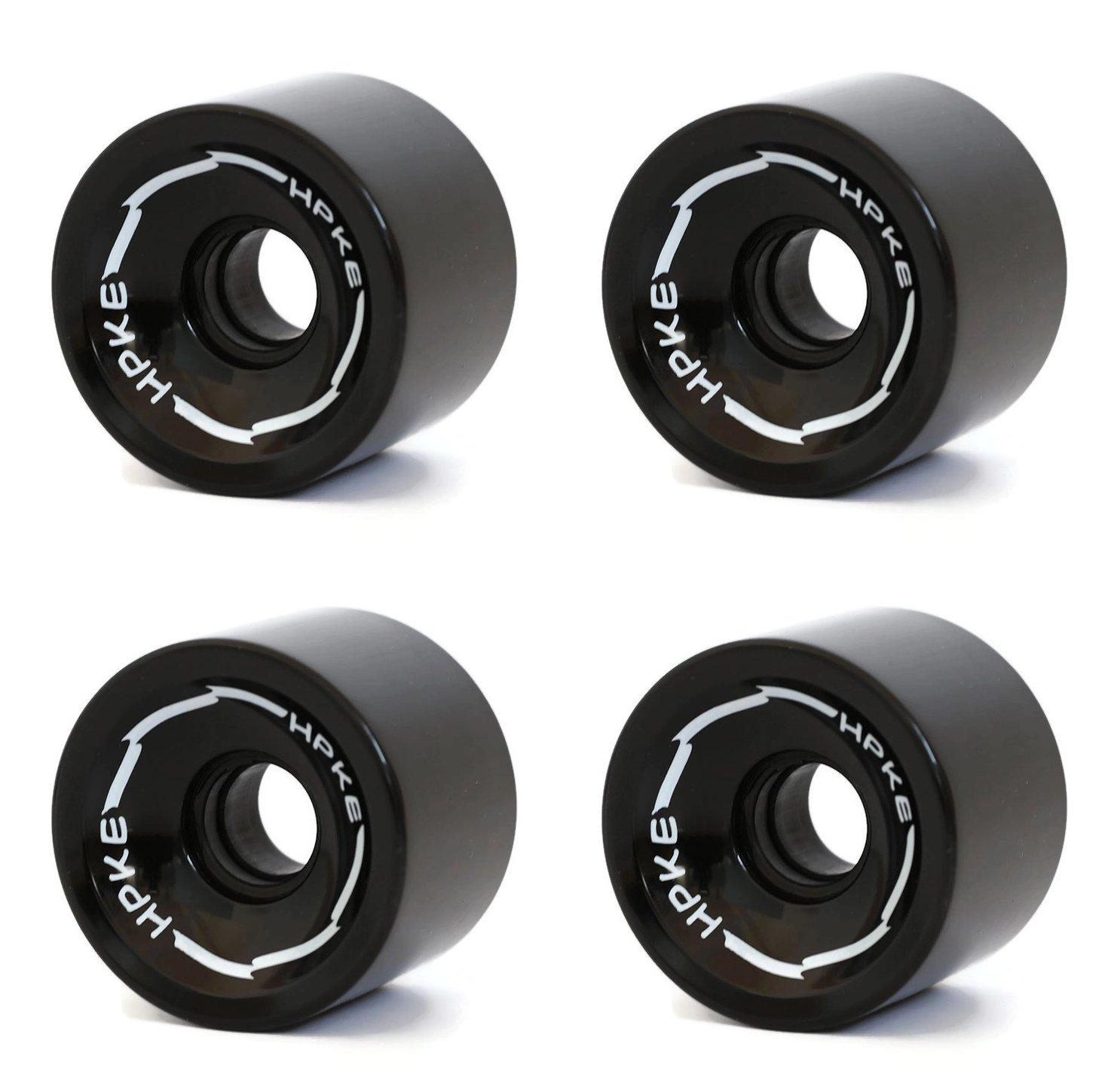 RaceBon 70mm Longboard Skateboard Wheels Dureza 78A Polyurethane Cruising Wheel Gratis ABEC-9 Rodamientos y espaciadores Set de 4 (Negro): Amazon.es: ...