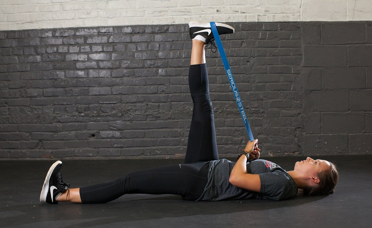 """Serious Steel Fitness Blue - #3 Light Pull-Up Assist & Stretching Resistance Band (Size: 1.125""""W, Resistance: 20-80lbs) Pull-Up and Starter Band e-Guide INCLUDED by Serious Steel Fitness (Image #9)"""