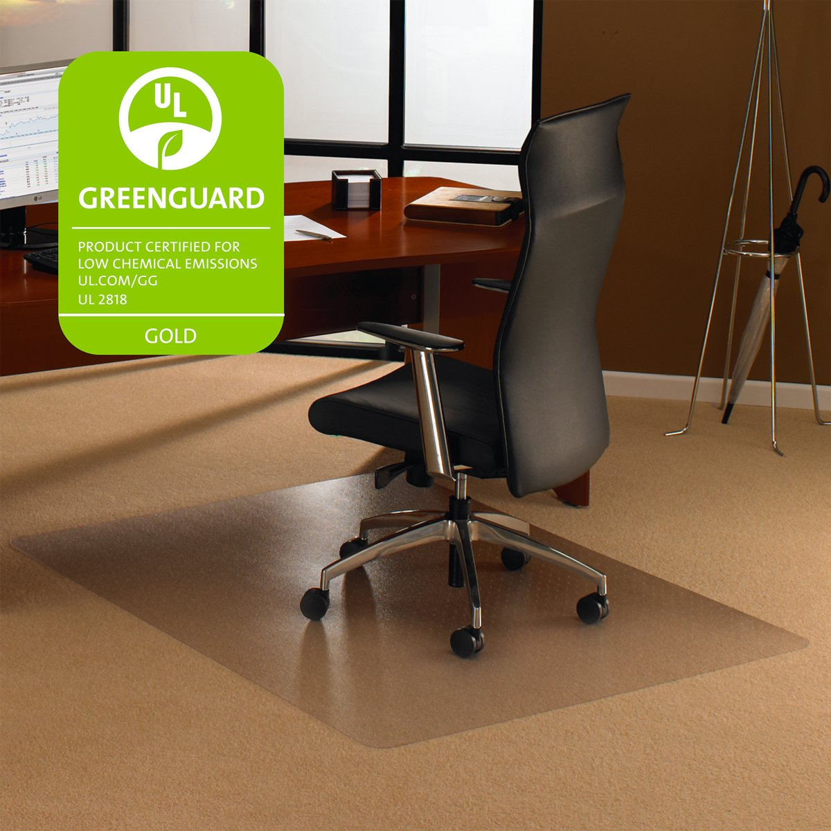 Amazon.com : Floortex EC118927ER Cleartex Ultimat Chair Mat For High Pile  Carpets, 35 X 47, Clear : Carpet Protector Chair Mat : Office Products