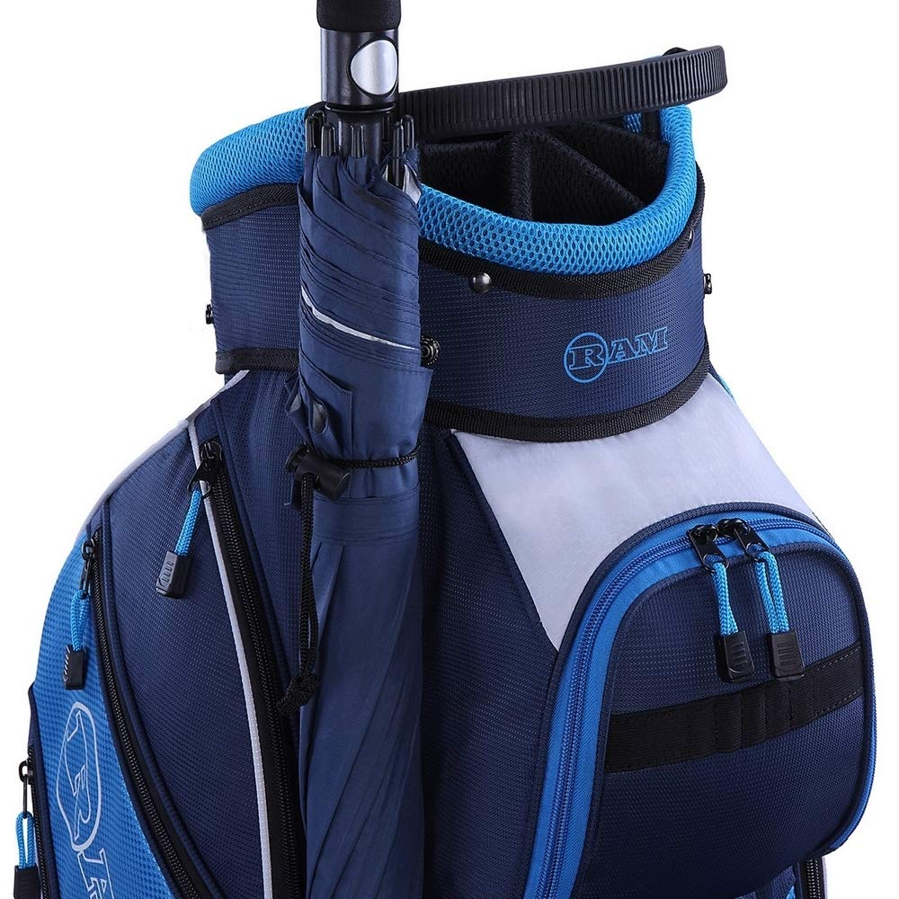 RAM Golf Lightweight Ladies Cart Bag with 14 Way Full Length Dividers Blue/White by RAM (Image #5)