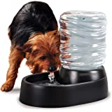 Ideas In Life Automatic Pet Dog Cat Water Dispenser as Gravity Cat Dog Water Bowl Fountain - Perfect as Pet Drinking Fountains for Cats and Dogs - Electric Water Bowls 62 Ounce Half Gallon Capacity