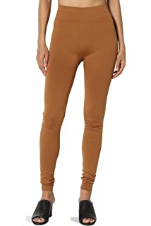 3d6857bdc44b2f TheMogan Women's 5-Pack: Seamless Fleece Lined Leggings Warm Thick Tights