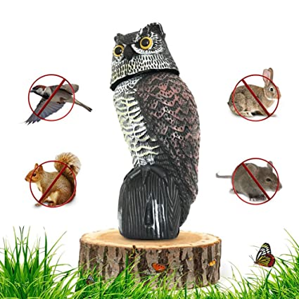 Superbe Garden Scarecrow Owl Decoy Bird Repellent With Scare Eyes And Frightening  Sound, Realistic Predator Owl