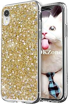 OKZone Funda iPhone XR Carcasa Purpurina, Cárcasa Brilla Glitter ...