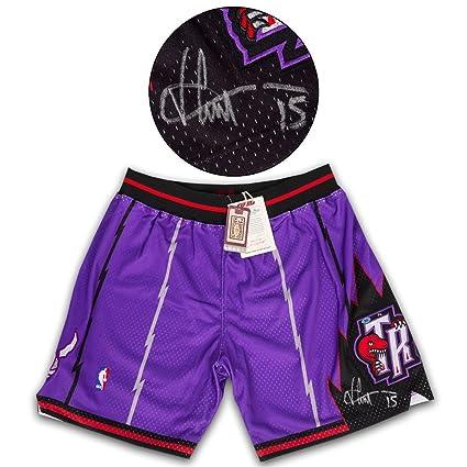 4785c1552 Vince Carter Toronto Raptors Signed Mitchell   Ness Basketball Shorts   15