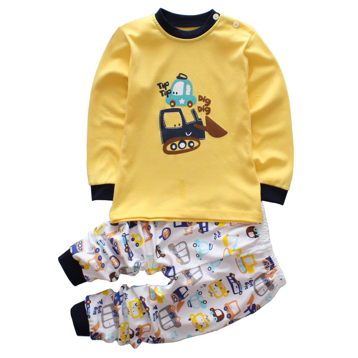15538da08 Toddler Boy Clothes Sets Baby Outfits Infant Pajamas Long Sleeve ...