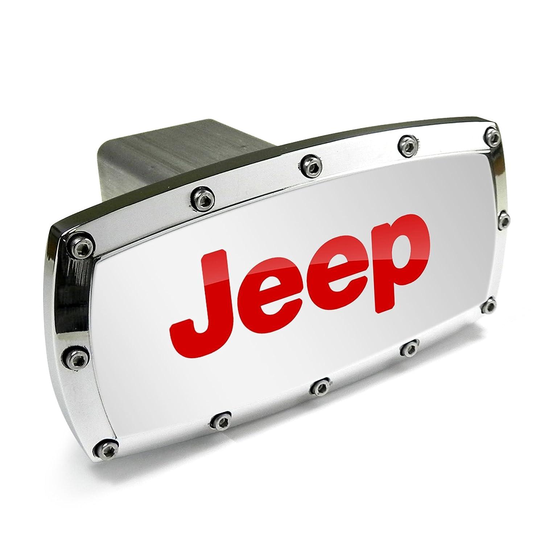 Jeep Rubicon Black Trim Billet Aluminum Tow Hitch Cover