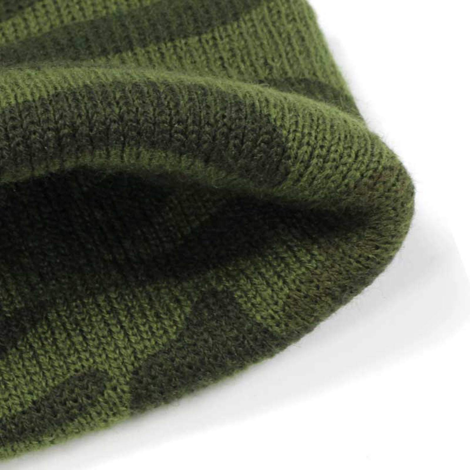 Fenyoung-knitted hat Mens Knit Camouflage Hats Ms Warms Touca Camouflage Warm Green Military Army caps Bone