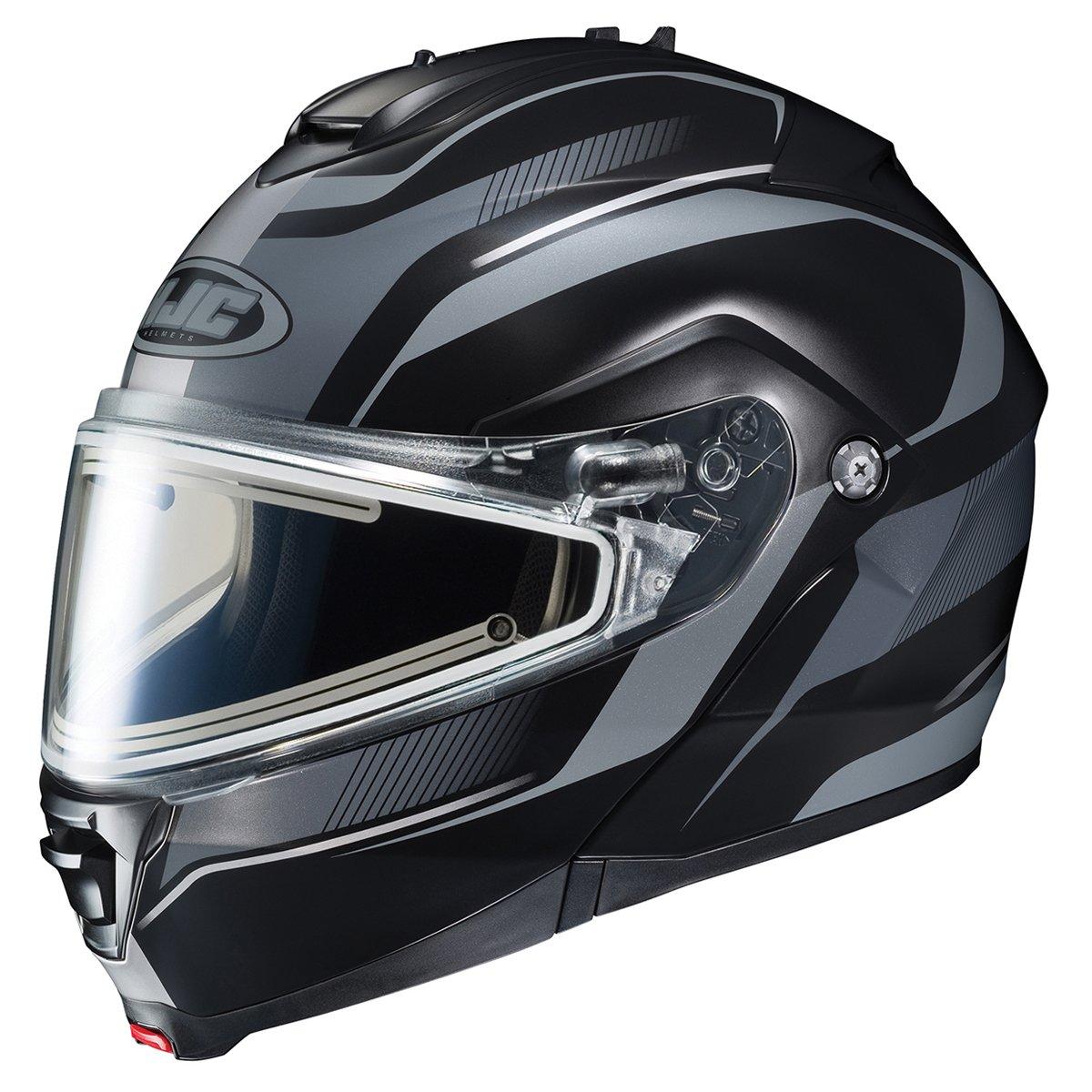 HJC IS-MAX2SN Style Modular Snow Helmet Frameless Electric Shield (MC-5F Black/Silver, XX-Large)