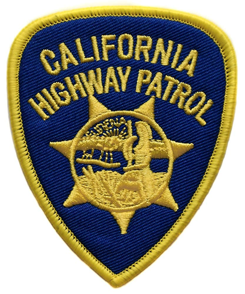topt mili ecusson Police Californie Policier us USA Patrol thermocollant 8x6,5cm patche Badge